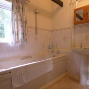 Interior en suite bathroom of a Cornish holiday bungalow